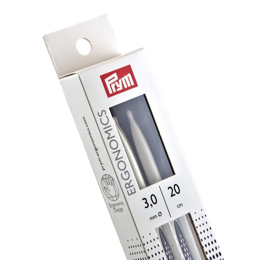 Prym double-point Ergonomisches NSP 3-8 mm 20 cm Nadelspiel Strumpfstricknadel