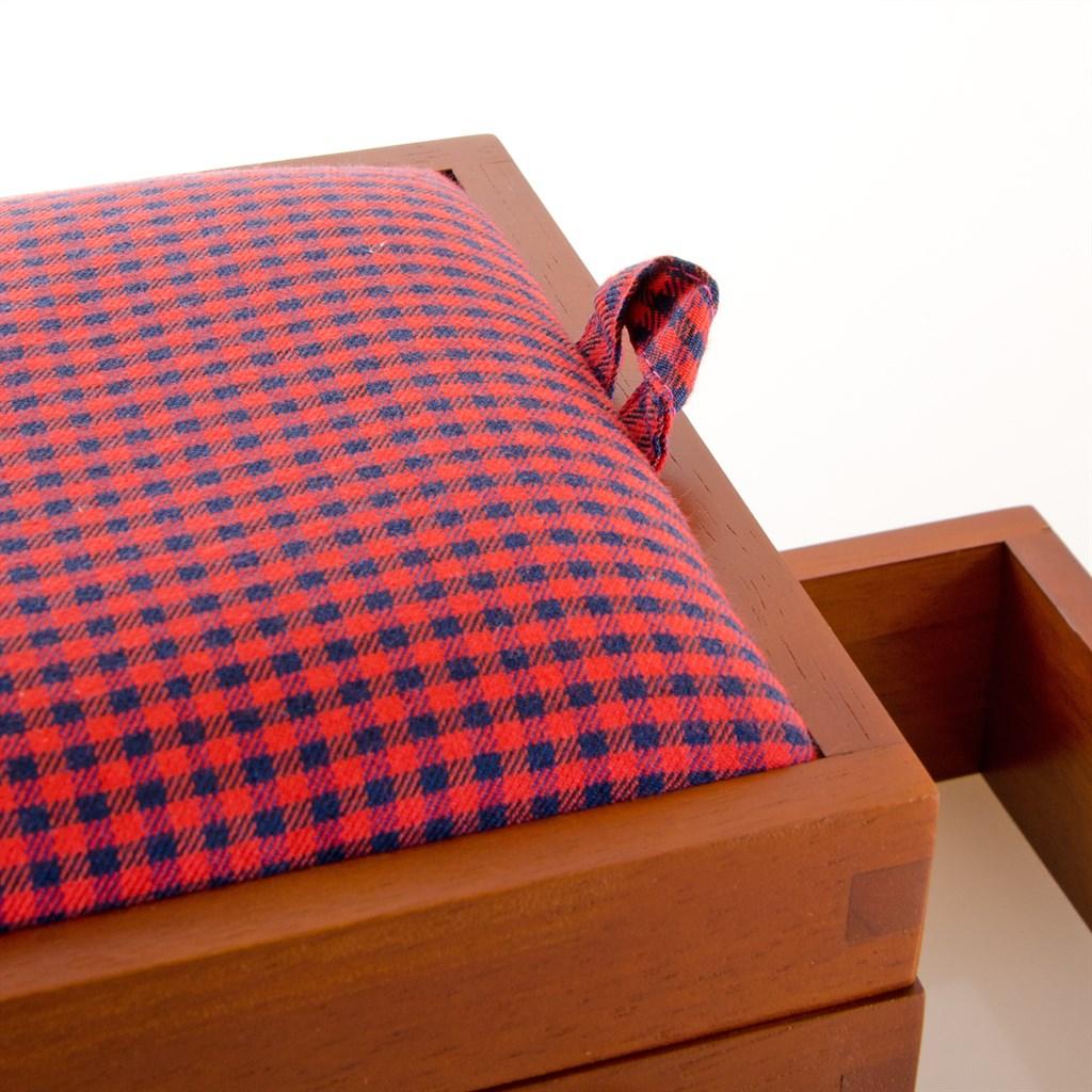Prym 612550 Nähkasten Holz dunkel Gr. M mit Stoff 36 x 30 x 19 cm ...