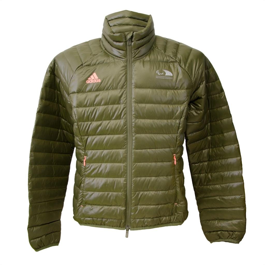 best website cf823 90aa0 Details zu adidas Damen Jacke JKT Easy in grün/pink Daunenjacke Paralympics  Rio 2016
