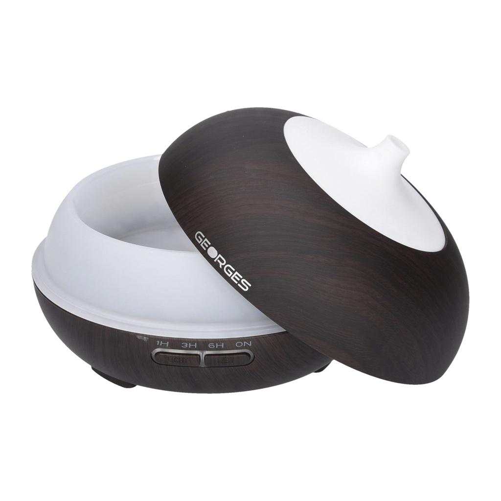 Georges-Humidifier-Aroma-Diffuser-grain-de-bois-avec-lumiere-LED-2-16-heur miniature 20