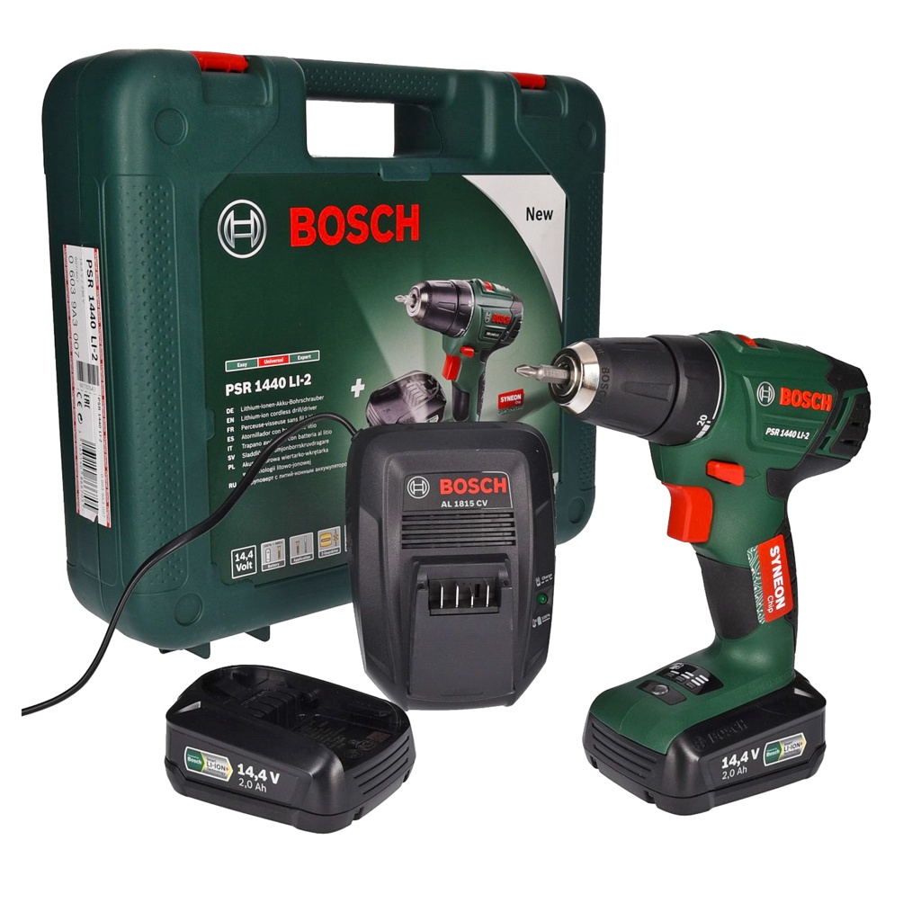Fabulous Bosch PSR 1440 Li-2 Akku-Bohrschrauber + Akku   Talk-Point HT51