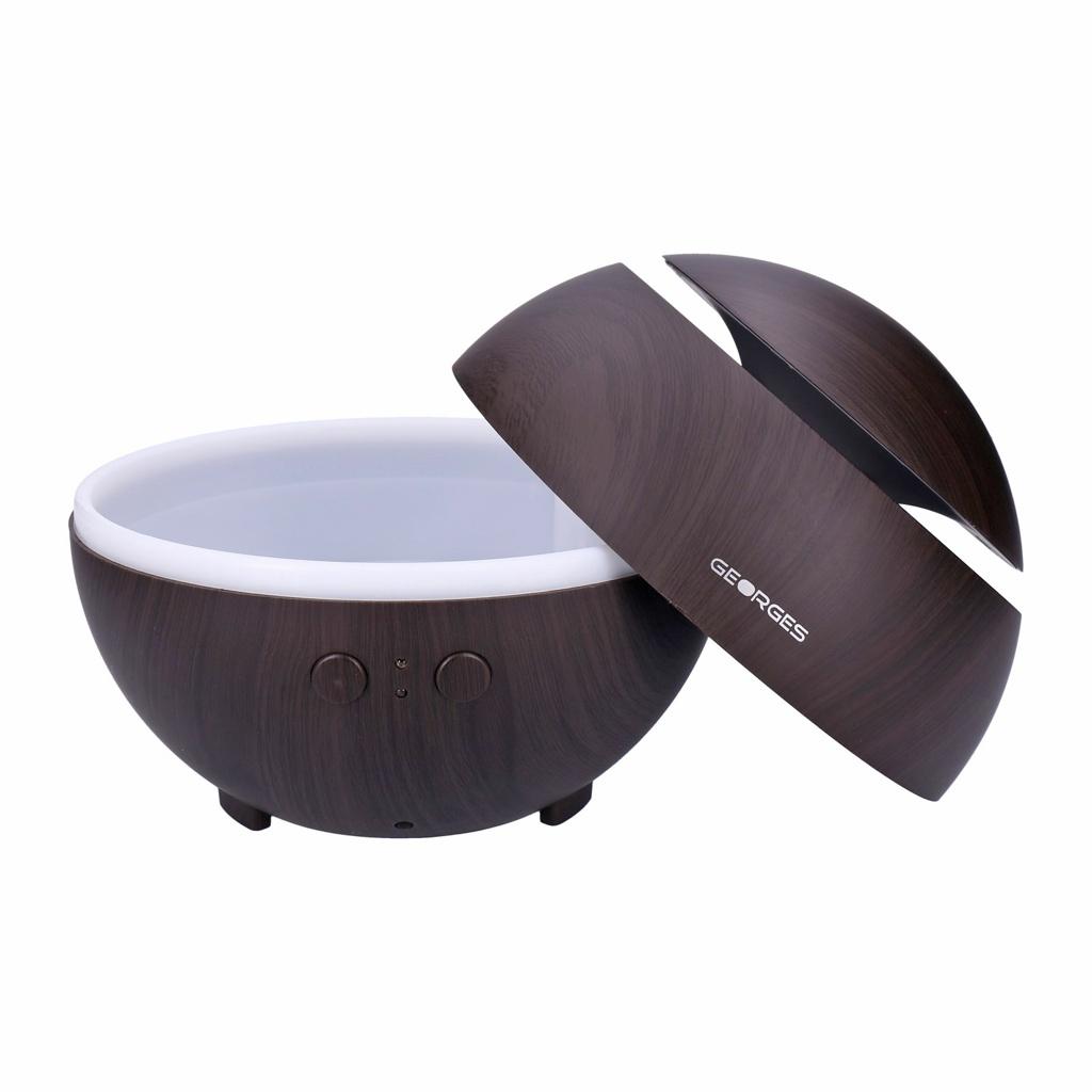 Georges-Humidifier-Aroma-Diffuser-grain-de-bois-avec-lumiere-LED-2-16-heur miniature 50