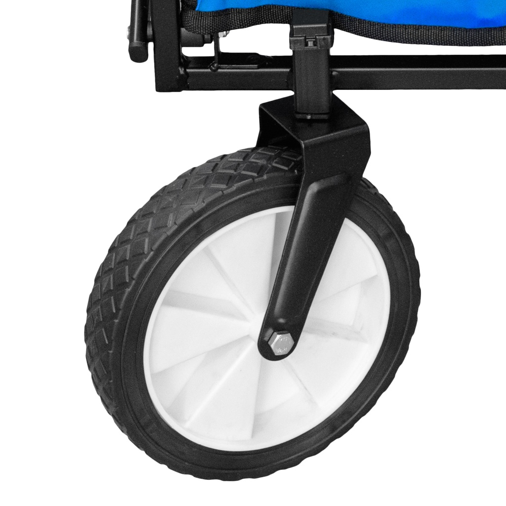 Chariot-a-tirer-pliable-avec-toit-Chariot-de-jardin-charrette-a-bras-100Kg miniature 9