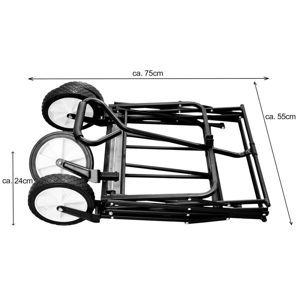 Chariot-a-tirer-pliable-avec-toit-Chariot-de-jardin-charrette-a-bras-100Kg miniature 12
