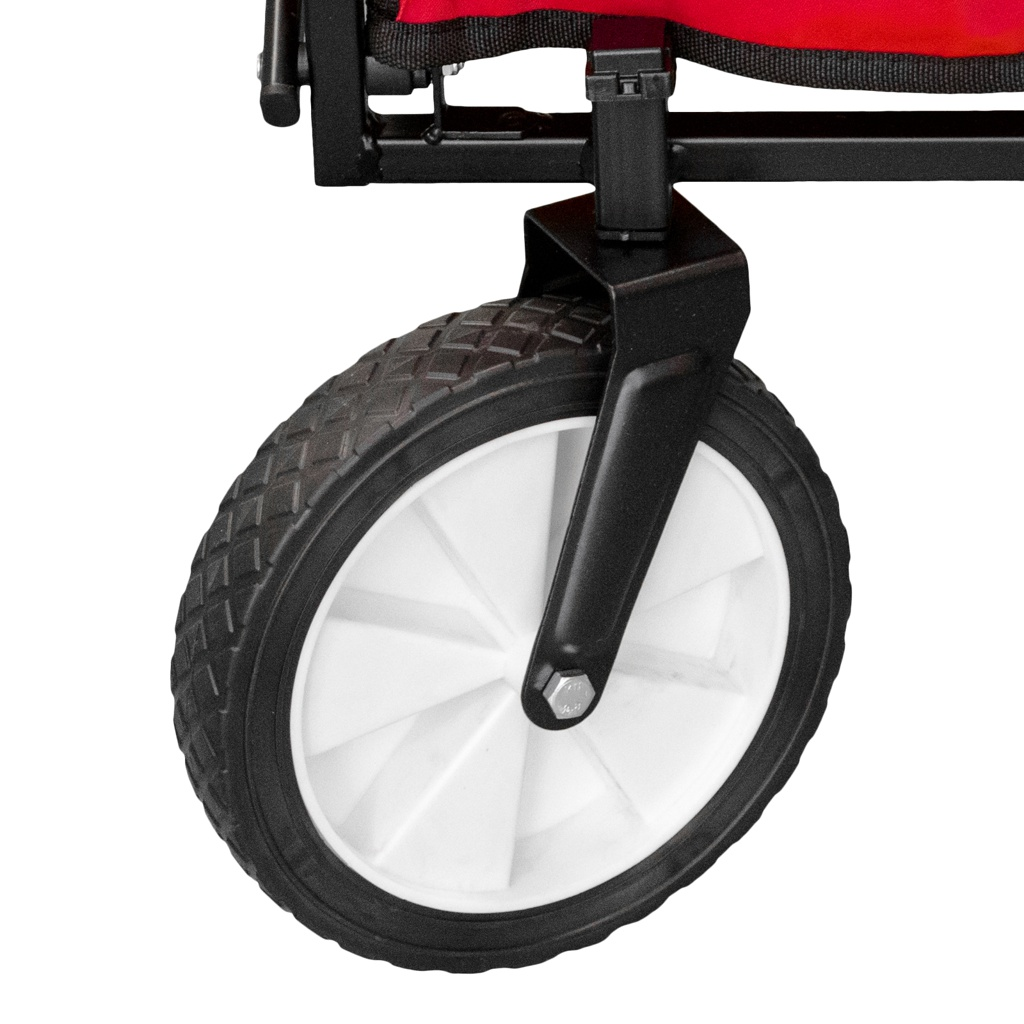 Chariot-a-tirer-pliable-avec-toit-Chariot-de-jardin-charrette-a-bras-100Kg miniature 14